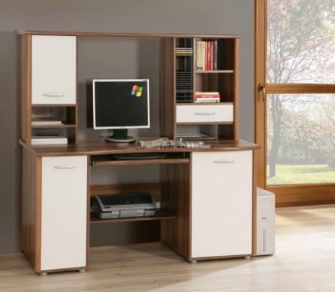 Kancelářský stůl Net106 MT934 ( Ořech/Bílá)