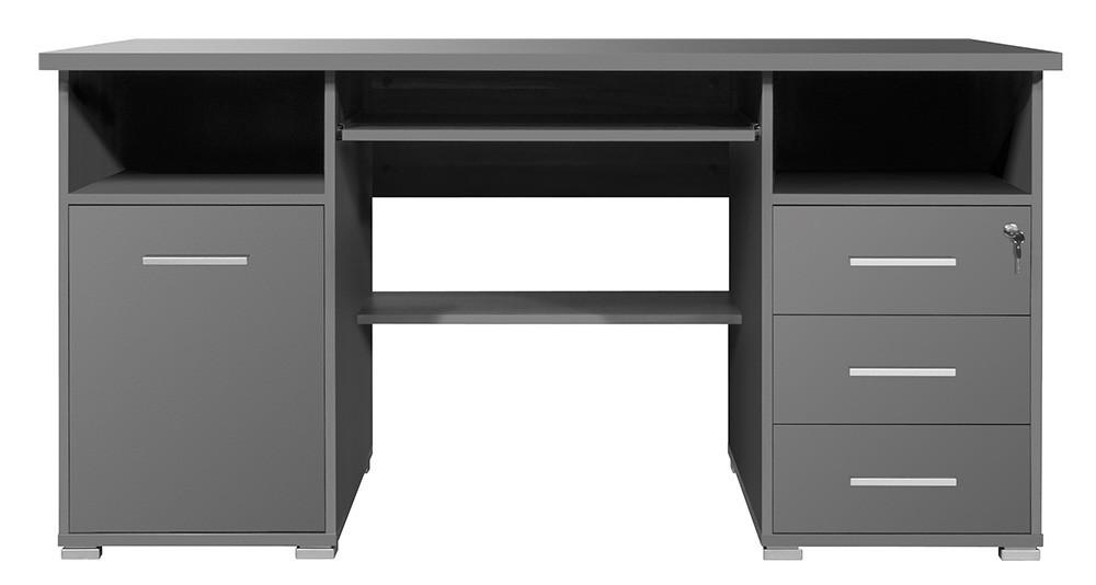 Kancelářský stůl Office - PC stůl (antracit)