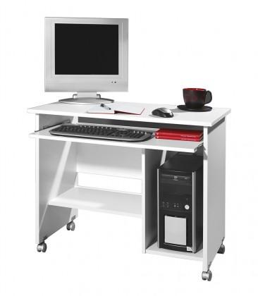 Kancelářský stůl Office - PC stůl (bílá)