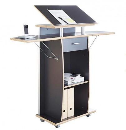 Kancelářský stůl Office - pracovní pult (antracit)