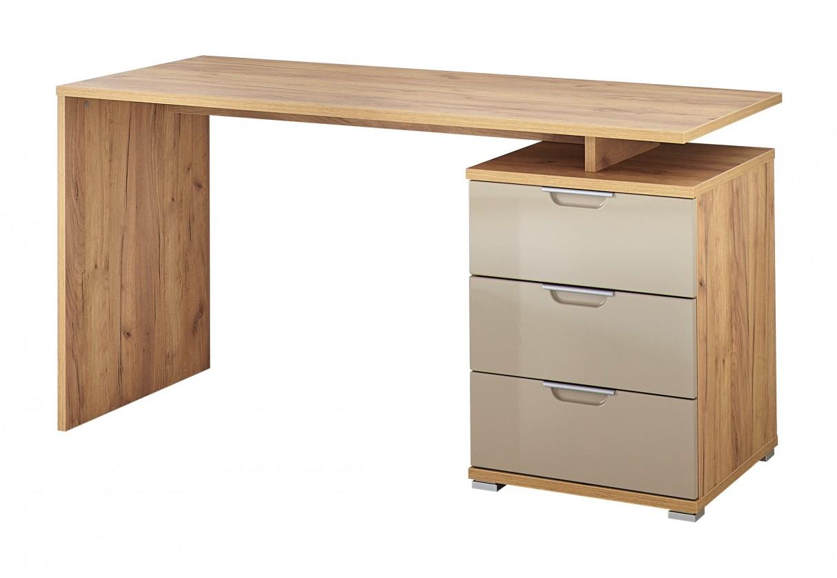 Kancelářský stůl Office - Stůl (dub navarra/písková)