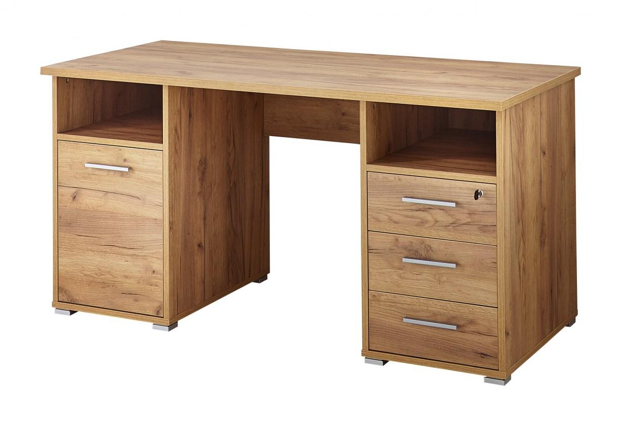 Kancelářský stůl Office - Stůl (dub navarra)