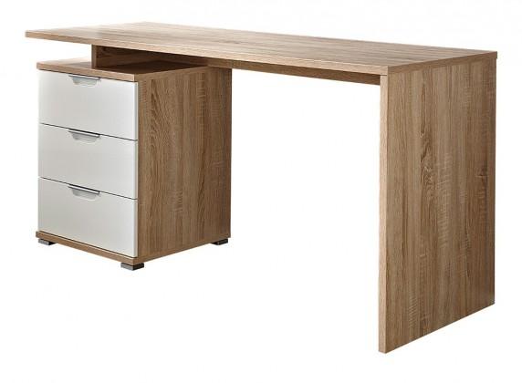 Kancelářský stůl Office - stůl (dub sonoma / bílá)