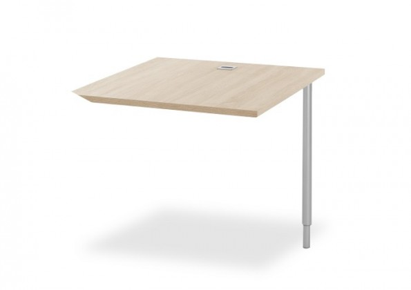 Kancelářský stůl Ohio - spojovací roh stolu, obdélníkový (dub sonoma)