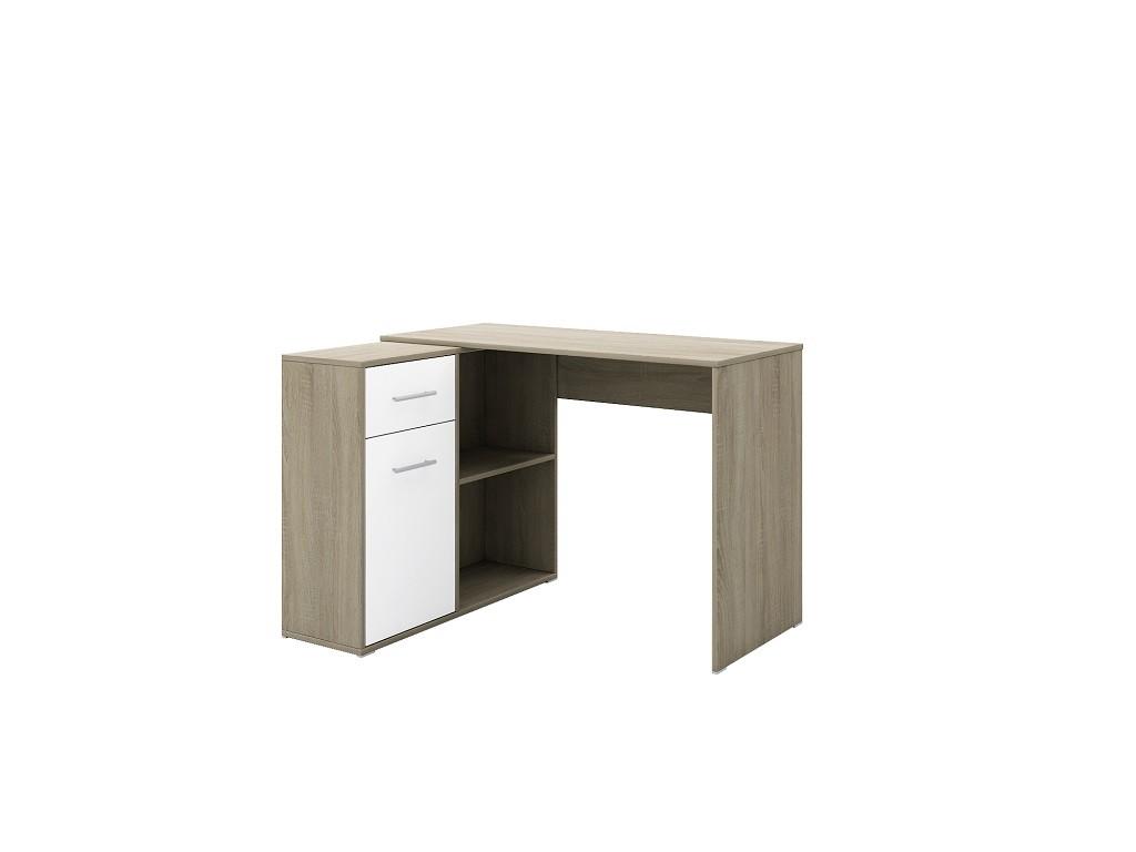 Kancelářský stůl Psací stůl Bent (sonoma, bílá)