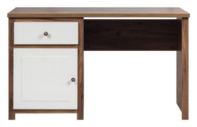 Kancelářský stůl Psací stůl (dub, bílá mat)