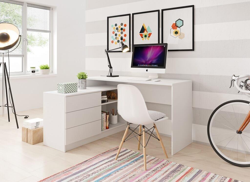 Kancelářský stůl Psací stůl Tungo (bílá)