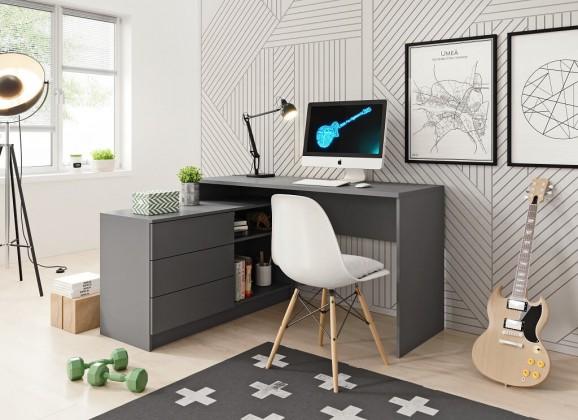 Kancelářský stůl Psací stůl Tungo (grafit)