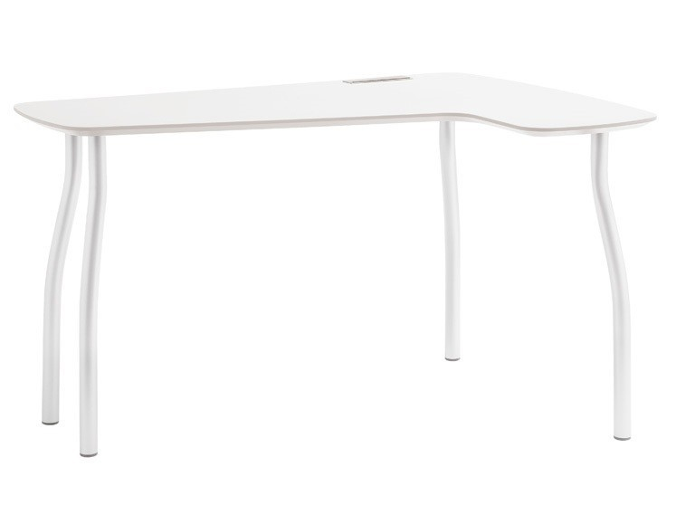 Kancelářský stůl Wing - pravý roh (bílá)