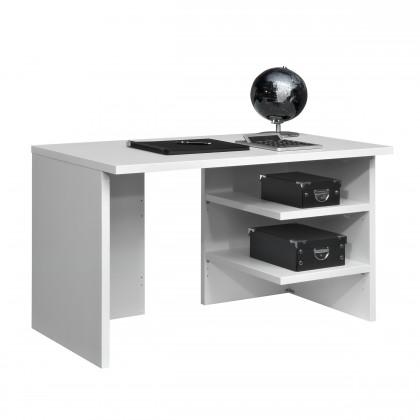 Kancelářský stůl Work - Stůl, 2x police, 120x74x70 (bílá)