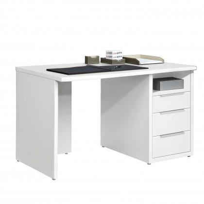 Kancelářský stůl Work - Stůl, 3x zásuvka, 120x74x70 (bílá)