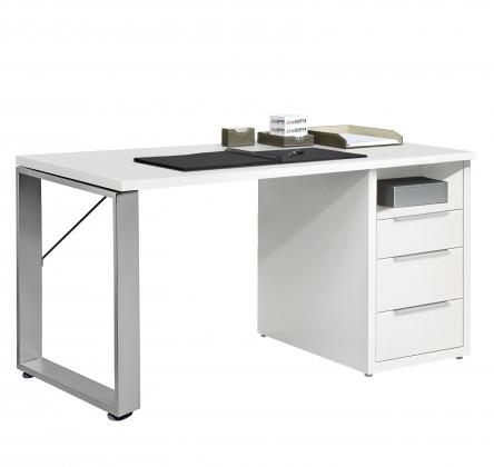 Kancelářský stůl Work - Stůl, 3x zásuvka, 140x74x70 (bílá)