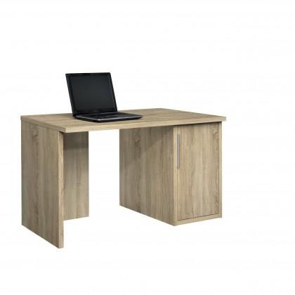 Kancelářský stůl Work - Stůl, skříňka, 1x police, 120x74x70 (dub)