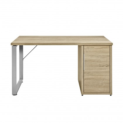 Kancelářský stůl Work - Stůl, skříňka, 1x police, 140x74x70 (dub)