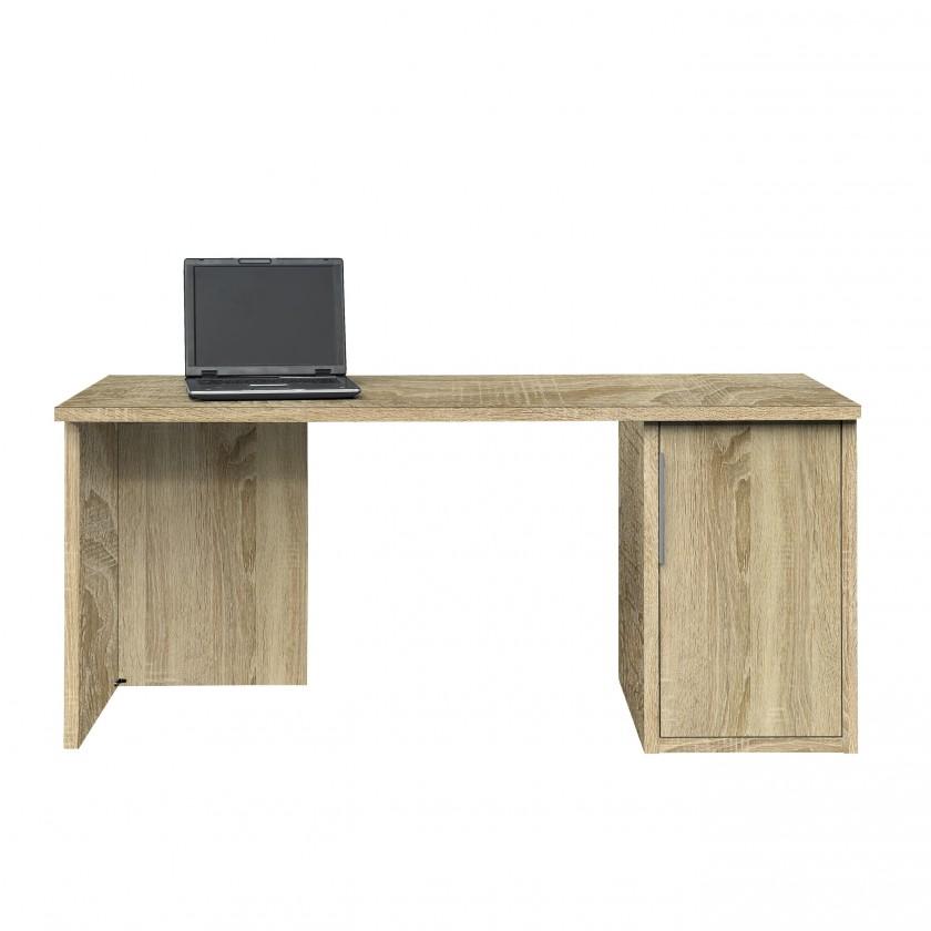 Kancelářský stůl Work - Stůl, skříňka, 1x police, 160x74x70 (dub)