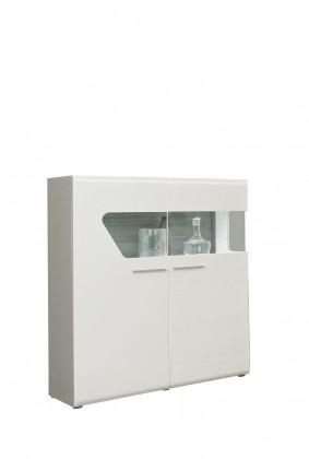 Kando-KANV52L(P45 - bílá / dub pískový / bílý lesk )