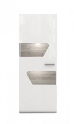 Kando-KANV81R(P45 - bílá / dub pískový / bílý lesk )
