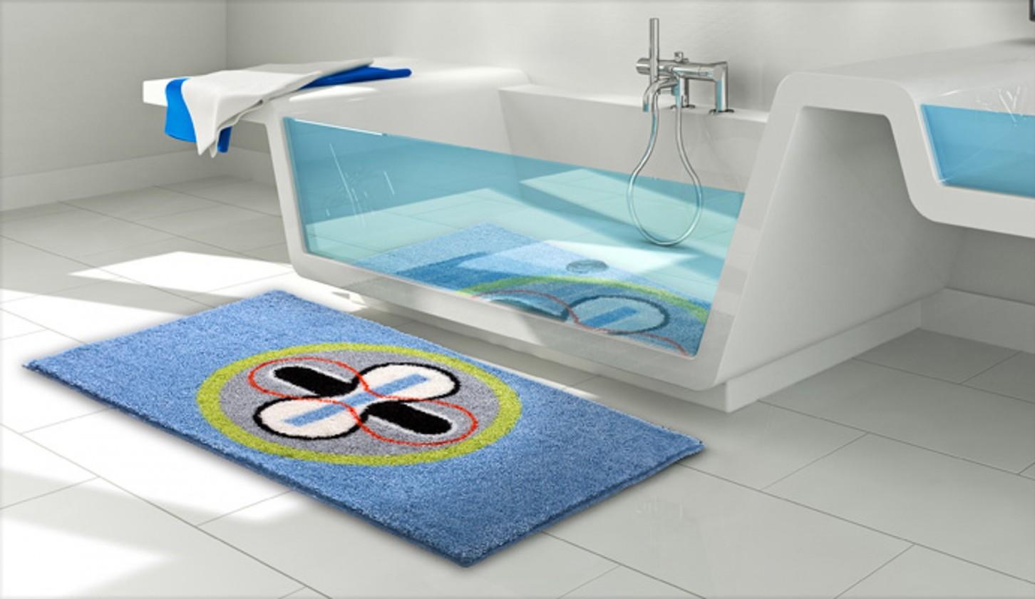 Karim 01 - Koupelnová předložka 60x100 cm (modrá)