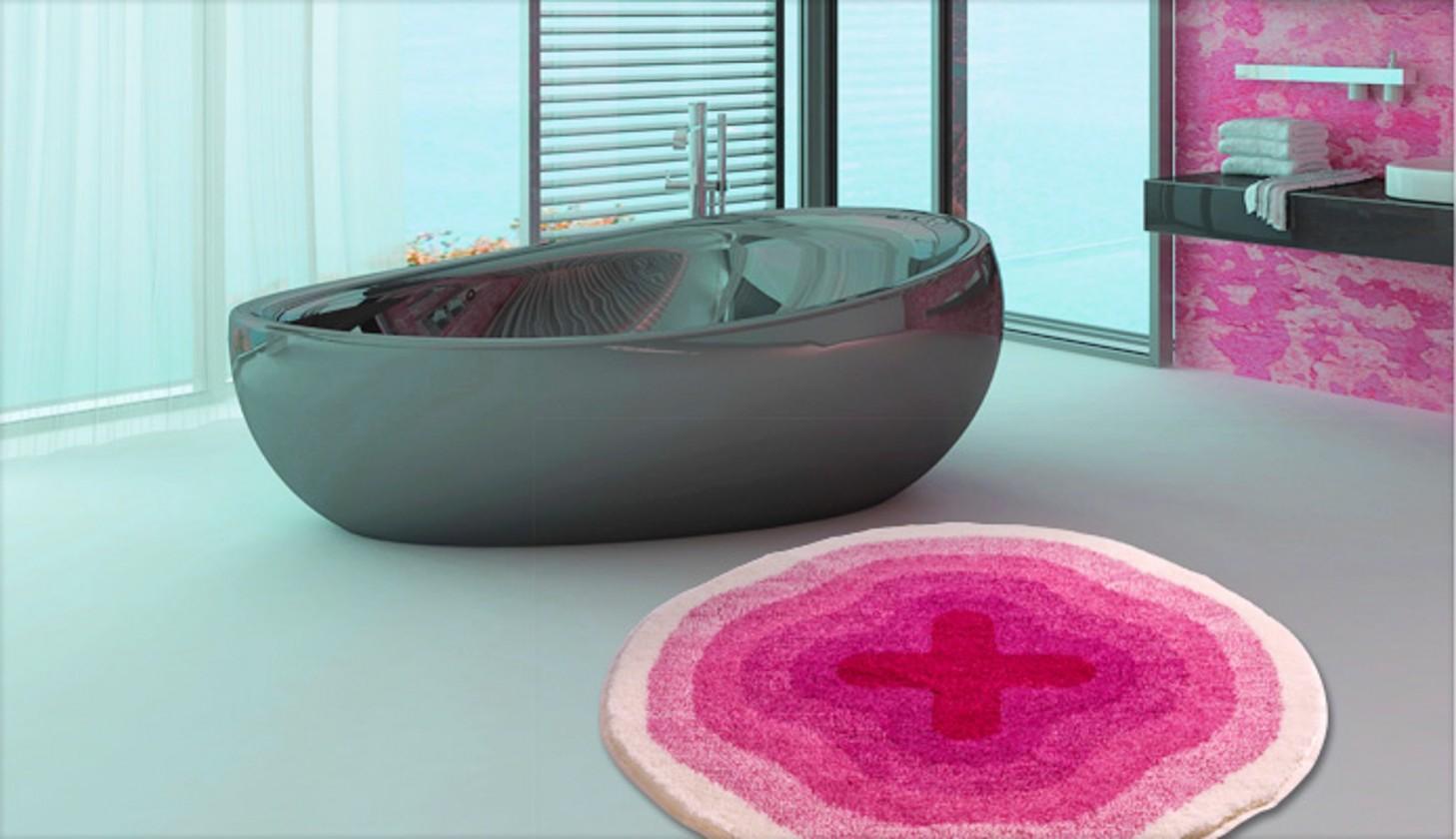 Karim 03 - Předložka kruh 90 cm (růžová)