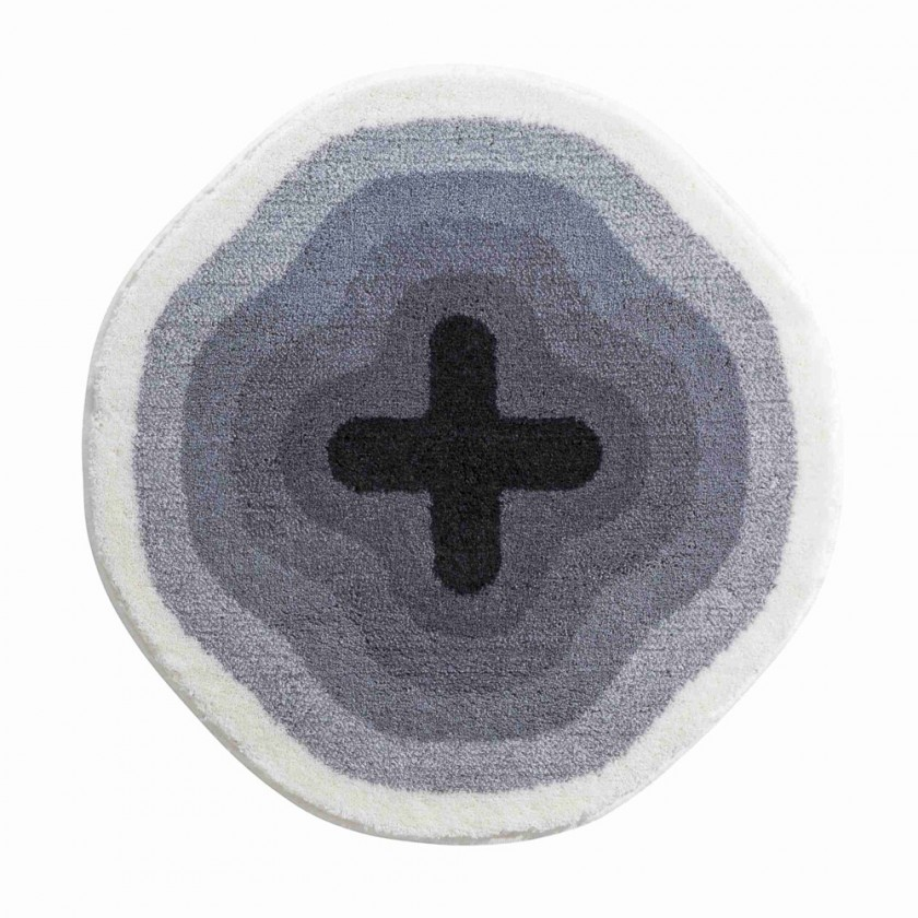 Karim 03 - Předložka kruh 90 cm (šedá)