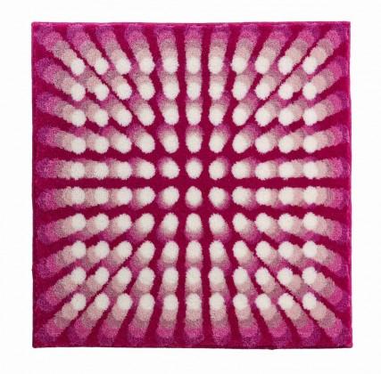 Karim 07 - Koupelnová předložka 90x90 cm (růžová)