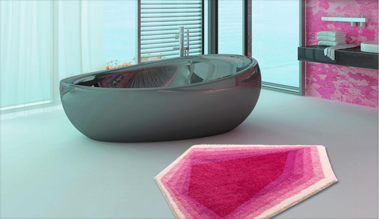 Karim 11 - Koupelnová předložka 82x130 cm (růžová)