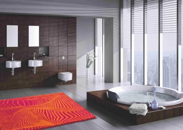 Karim 13 - Koupelnová předložka 60x100 cm (červená)