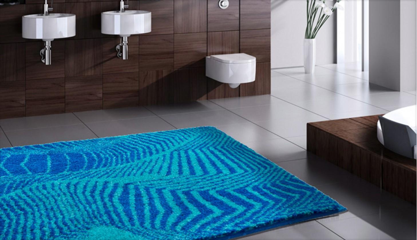 Karim 13 - Koupelnová předložka 60x100 cm (modrá)