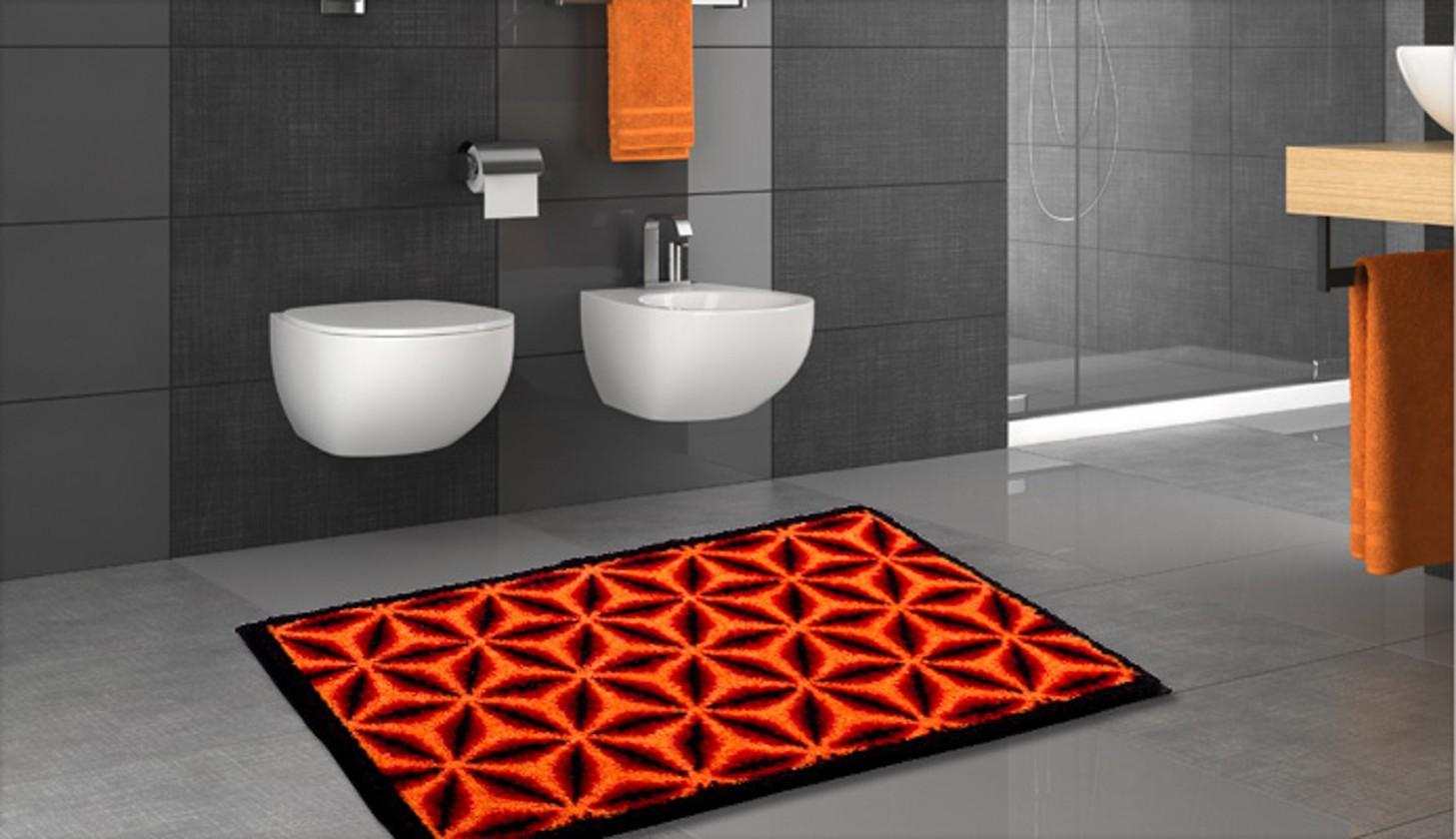 Karim 14 - Koupelnová předložka 60x100 cm (červená)