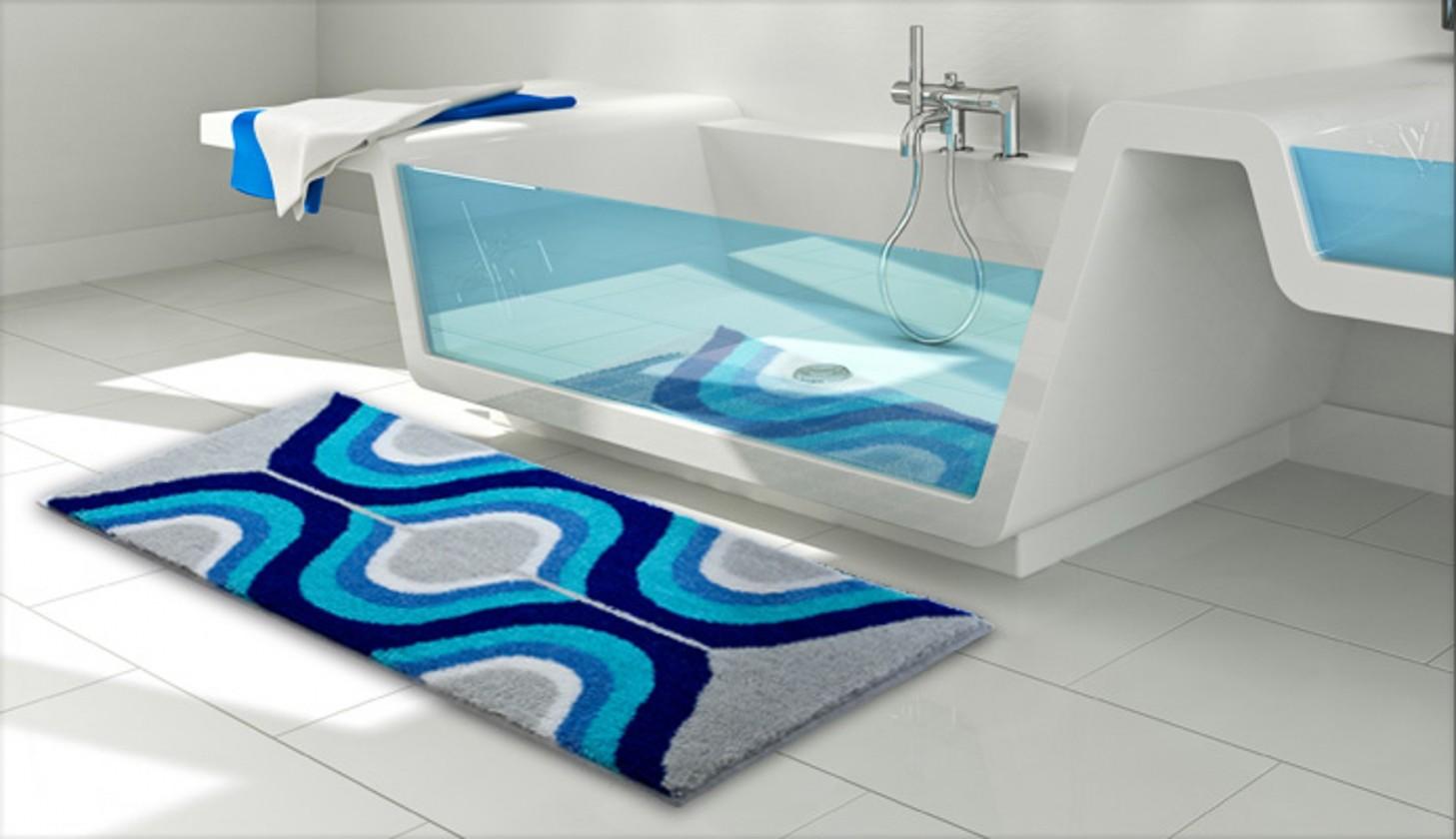 Karim 18 - Koupelnová předložka 60x100 cm (šedá)