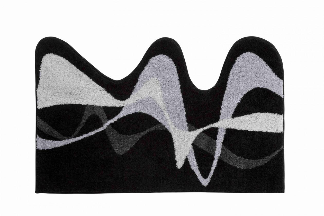 Karim 19 - Koupelnová předložka 50x80 cm (černá)