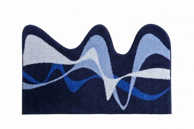 Karim 19 - Koupelnová předložka 75x120 cm (modrá)
