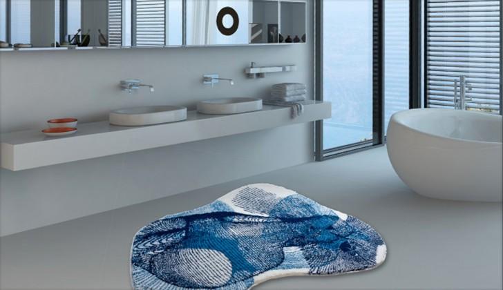 Karim 27 - Koupelnová předložka 80x150 cm (modrá)