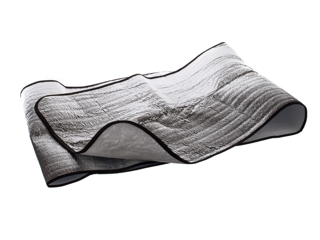 Kempingová alu podložka 180x60 cm (chrom)