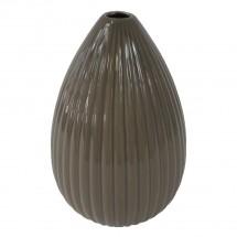 Keramická váza VK38 hnědá lesklá (25 cm)