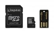 Kingston micro SDHC 16GB (Class 10) + SD adaptér a čtečka BAZAR