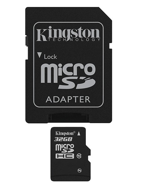 Kingston Micro SDHC 32GB Class 10 + adaptér - SDC10/32GB ROZBALEN