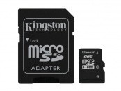 Kingston micro SDHC 8GB (Class 4) + SD adaptér ROZBALENO