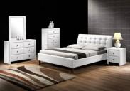 Kirsty - Postel 200x160, rám postele, rošt (bílá)