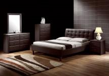 Kirsty - Postel 200x160, rám postele, rošt (tmavě hnědá)