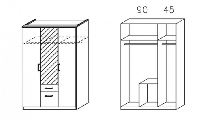 Klasická Apulien - s křídlovými dveřmi, 3x dveře
