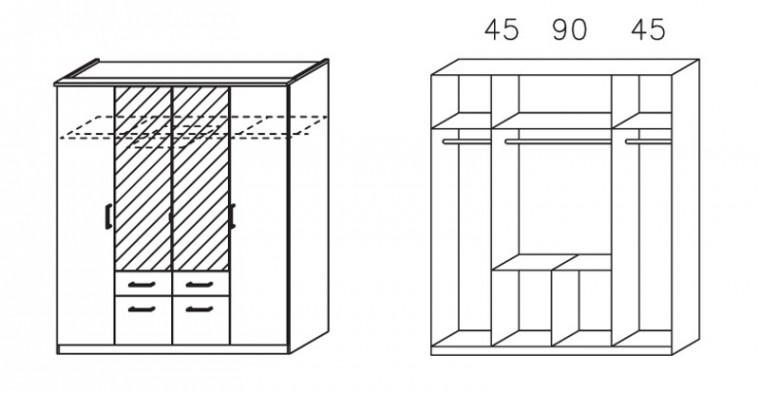 Klasická Apulien - s křídlovými dveřmi, 4x dveře