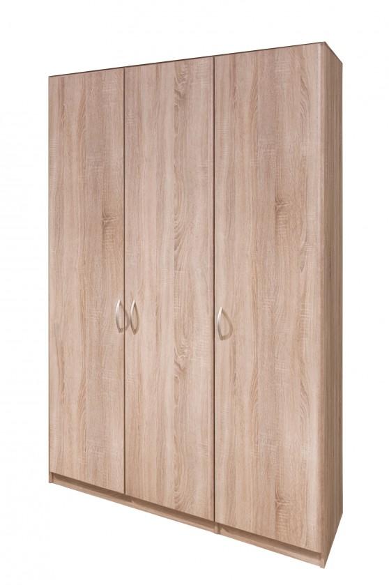 Klasická Cassanova - Šatní skříň, 3x dveře (dub bardolino)