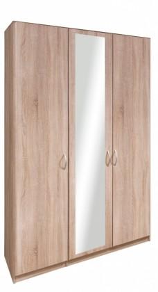 Klasická Cassanova - Skříň, 2x dveře,1x dveře se zrcadlem (dub bardolino)