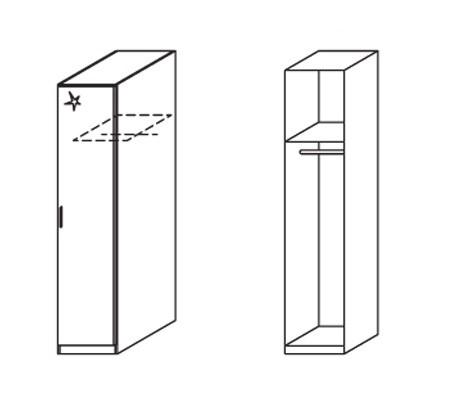 Klasická Celle, 1x dveře