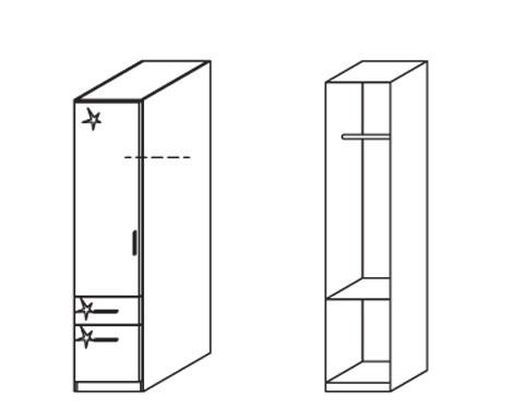 Klasická Celle, 1x dveře levá