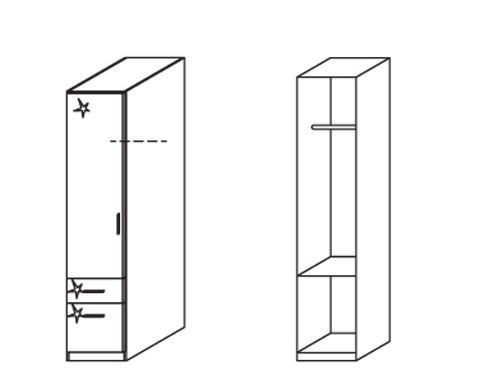 Klasická Celle, 1x dveře, levá