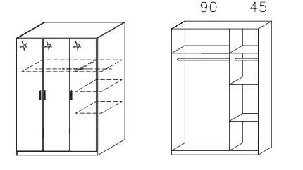 Klasická Celle AM625.0EL1 (dub sonoma / bílá lesk)