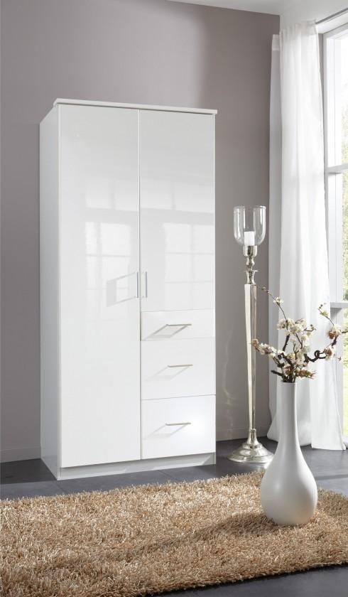 Klasická Clack - Skříň, 2x dveře (bílá, bílá)