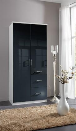 Klasická Clack - Skříň, 2x dveře (černá, bílá)